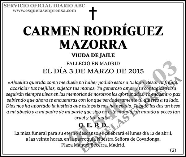 Carmen Rodríguez Mazorra